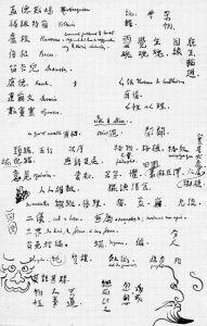 图5 伯希和手书草稿