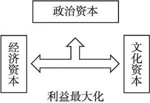 图1 旅游经济场域资本转化结构