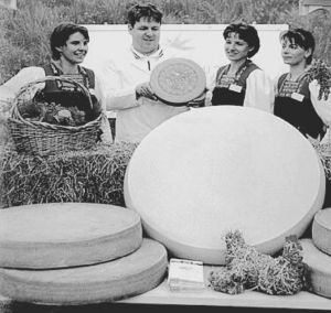 农民自制的巨大奶酪