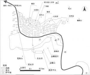 图2 爨底下村旅游景点分布