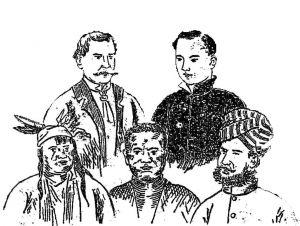 图6-14 《新式国民学校国文教科书》所附五种人图
