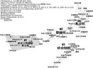 图6 关键词共现网络聚类分布