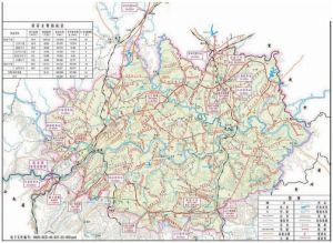 向家坝水电站灌区规划示意图