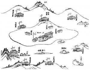 图6-26 一组炮台群落图(据张之洞《广东海图说·1889年》)