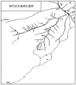 图1-1 清代亚东地理位置图