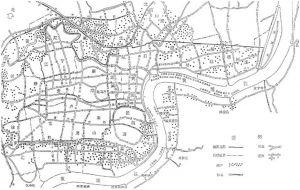 图1-6 上海棚户区分布示意图
