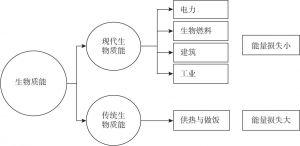 图8-1 生物质能转变成能源的路径