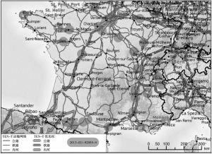 图12 法国快速充电网络示意