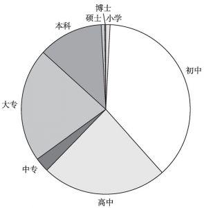 图3 文化程度分布