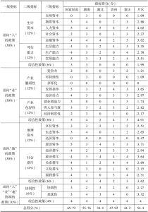 表3 武陵山片区扶贫政策合理性评价得分