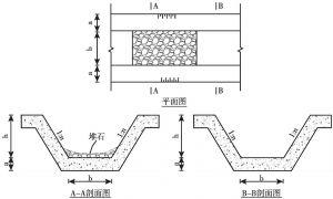 图3 间隔堆砌块石工法示意