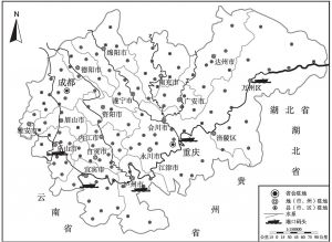 图2 成渝经济区流域图