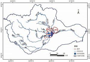 图2 白洋淀流域水系分布