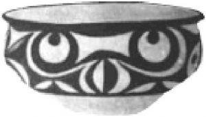 图8 甘肃地区出土的彩陶圆目鱼纹