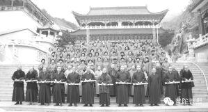 2015年北普陀寺首届冬季禅七合影