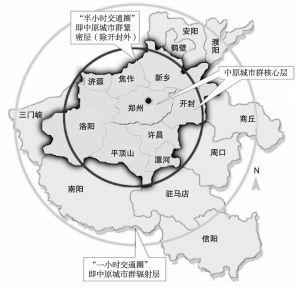 图3 中原城市群辐射网路