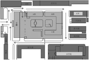 图1 DS号院内行车路线图