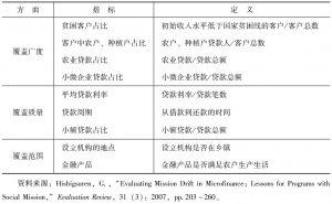 表3-5 小额贷款公司使命偏移的衡量标准-续表
