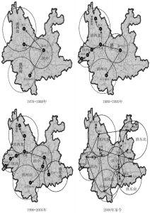 图2-4 云南省旅游发展空间结构演变