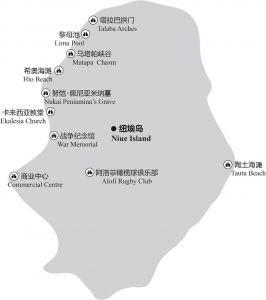 图5-1 纽埃岛主要景点分布