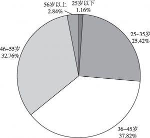 图1 返乡创业人员年龄结构