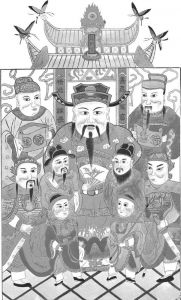 图3-4 财神画像