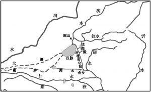 图2-4 东晋桓温、刘裕北伐时期的大野泽与桓公沟