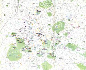 雅典景点分布图