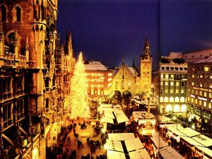 玛利亚广场的圣诞节集市